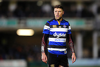 Rhys Priestland of Bath Rugby looks on during a break in play. Aviva Premiership match, between Bath Rugby and Northampton Saints on February 10, 2017 at the Recreation Ground in Bath, England. Photo by: Patrick Khachfe / Onside Images
