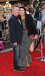 Alan Thicke and Tanya Callau arriving to the world premiere of Sex Tape held at Regency Village Theater Westwood CA. July 10, 2014.