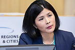 BRUSSELS - BELGIUM - 10 October 2019 -- iEER Final conference as part of European Week of Regions and Cities - The Hacking Growth – boosting entrepreneurial ecosystems in European regions. -- Christine Chang, Head of Project, iEER Interreg Europe, Helsinki-Uusimaa. -- PHOTO: Juha ROININEN / EUP-IMAGES