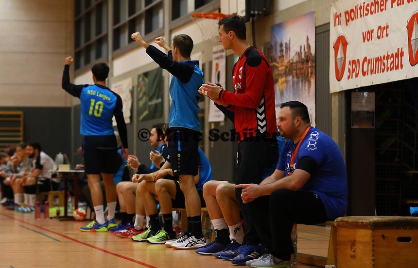 Jubel bei der HSG Langen - Crumstadt 02.12.2018: ESG Crumstadt/Goddelau vs. HSG Langen