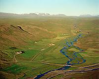 Oddsstaðir séð til austurs, Lundarreykjadalshreppur / Oddsstadir viewing east, Lundarreykjadalshreppur