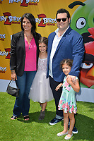 "LOS ANGELES, USA. August 10, 2019: Josh Gad, Ida Darvish & Family at the premiere of ""The Angry Birds Movie 2"" at the Regency Village Theatre.<br /> Picture: Paul Smith/Featureflash"