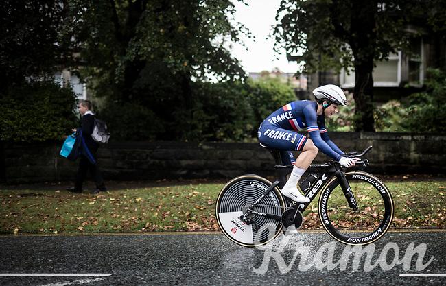 Audrey Cordon (FRA/Trek-Segafredo)<br /> Elite Women Individual Time Trial<br /> <br /> 2019 Road World Championships Yorkshire (GBR)<br /> <br /> ©kramon