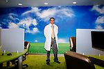 Neurologist Dr. Michael Marvi poses for a portrait in the Concussion Clinic at the Providence St. Joseph Medical Center in Burbank, California November 17, 2015.