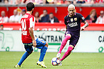 Sporting de Gijon's Nacho Cases (l) and FC Barcelona's Neymar Santos Jr during La Liga match. September 24,2016. (ALTERPHOTOS/Acero)