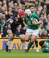 Saturday 10th March 2018 |  Ireland vs Scotland<br /> <br /> Rory Best fends off Grant Gilchrist during the NatWest 6 Nations clash between Ireland and Scotland at the Aviva Stadium, Lansdowne Road, Dublin, Ireland. Photo by John Dickson / DICKSONDIGITAL