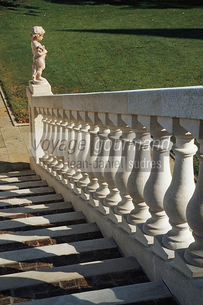 Europe/France/Aquitaine/33/Gironde/Pauillac: château Pichon Longueville Comtesse de Lalande (AOC Pauillac) - Détail architecture [Non destiné à un usage publicitaire - Not intended for an advertising use]