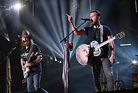 11 June 2017 - Nashville, Tennessee - John Osborne and T.J. Osborne, Brothers Osborne. 2017 CMA Music Festival Nightly Concert held at Nissan Stadium. Photo Credit: Laura Farr/AdMedia