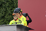 Ale Cipollini riders at sign on before the start of the Ladies 2017 Strade Bianche running 127km from Siena to Siena, Tuscany, Italy 4th March 2017.<br /> Picture: Eoin Clarke   Newsfile<br /> <br /> <br /> All photos usage must carry mandatory copyright credit (&copy; Newsfile   Eoin Clarke)