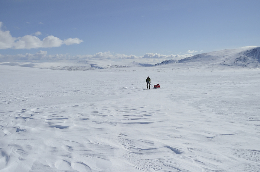 Skiing in Sarek,Sweden