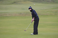 Aaron Blair (Scrabo) on the 12th green during Round 2 of the Ulster Boys Championship at Portrush Golf Club, Portrush, Co. Antrim on the Valley course on Wednesday 31st Oct 2018.<br /> Picture:  Thos Caffrey / www.golffile.ie<br /> <br /> All photo usage must carry mandatory copyright credit (&copy; Golffile | Thos Caffrey)