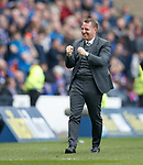 15.04.2018 Celtic v Rangers scottish cup SF:<br /> Brendan Rodgers celebrates as Celtic take the lead