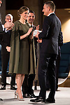King Felipe VI of Spain and Queen Letizia during National Awards of Innovation and Design 2016 at Regional Archeological Museum in Madrid. February 06, 2017. (ALTERPHOTOS/Borja B.Hojas)