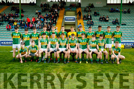The Kerry team who defeated Tipperary in the Munster U17 Football Championship at Austin Stack Park Tralee on Tuesday evening.