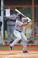 GCL Tigers West left fielder Jacob Robson (12) at bat during a game against the GCL Tigers East on August 4, 2016 at Tigertown in Lakeland, Florida.  GCL Tigers West defeated GCL Tigers East 7-3.  (Mike Janes/Four Seam Images)
