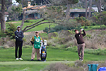 Vijay Singh watching George Lopez at Monterey Peninsula Country Club