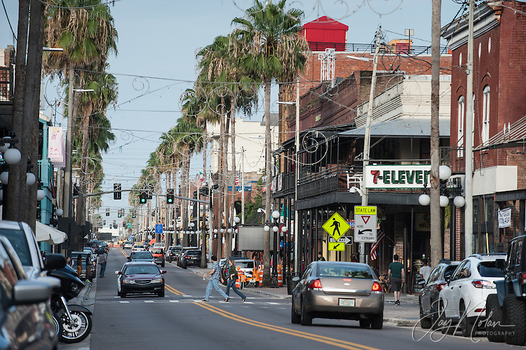 Looking East along 7th Avenue in Ybor City today, Thursday 6/11/15. Photo/Jay Nolan
