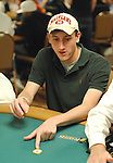 Brian Miller has exactly one chip left after losing an all in the previous hand.  He had his opponent, Ed de Haas, covered by $1000.
