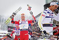 Holmenkollen, 20110227. 30km. ski vm holmenkollen. Petter Northug, Marcus Hellner (t.h.) Foto: Eirik Helland Urke / Dagbladet