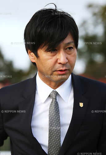 Yasutoshi Ikee,<br /> FEBRUARY 9, 2014 - Horse Racing :<br /> Trainer Yasutoshi Ikee after Tosen Stardom won the Kisaragi Sho (NHK Sho) at Kyoto Racecourse in Kyoto, Japan. (Photo by Eiichi Yamane/AFLO)