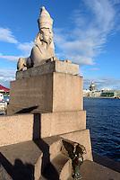 Sphinxen-Anleger, St. Petersburg, Russland, UNESCO-Weltkulturerbe