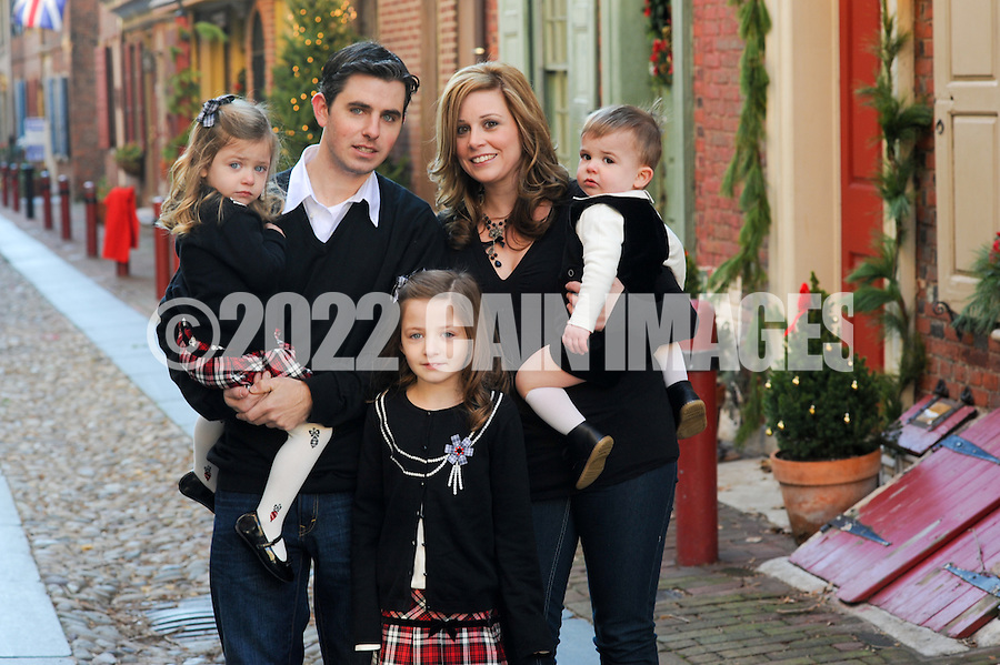 PHILADELPHIA, PA - DECEMBER 11:  Sewell family photographed December 11, 2011 in Philadelphia, Pennsylvania. (Photo by William Thomas Cain/cainimages.com)