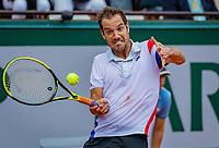 Paris, France, 02 June, 2018, Tennis, French Open, Roland Garros, Richard Gasquet (FRA)<br /> Photo: Henk Koster/tennisimages.com