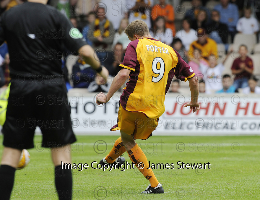 23/08/2008  Copyright Pic: James Stewart.File Name : sct_jspa15_motherwell_v_dundee_utd.CHRIS PORTER PENTALY IS SAVED.James Stewart Photo Agency 19 Carronlea Drive, Falkirk. FK2 8DN      Vat Reg No. 607 6932 25.James Stewart Photo Agency 19 Carronlea Drive, Falkirk. FK2 8DN      Vat Reg No. 607 6932 25.Studio      : +44 (0)1324 611191 .Mobile      : +44 (0)7721 416997.E-mail  :  jim@jspa.co.uk.If you require further information then contact Jim Stewart on any of the numbers above........