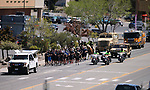 Carson City Sheriff&rsquo;s and other law enforcement representatives run the memorial baton into downtown Carson City, Nev., on Wednesday, May 3, 2017. The 20th annual Nevada Law Enforcement Memorial ceremony will be tomorrow.<br />