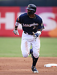 Milwaukee Brewers' Keon Broxton runs against the San Francisco Giants in a spring training game in Phoenix, AZ, on Thursday, March 23, 2017.<br /> Photo by Cathleen Allison/Nevada Photo Source