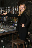 Amanda Holden as Harry Potter studio tour opens the new Dark Arts fixture, Watford. 14/10/2014 Picture by: James Smith / Featureflash