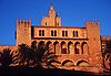 The royal palace Almudaina in Palma de Mallorca at warm sunset light<br /> <br /> El Palacio Real de Almudaina en Palma de Mallorca con luz de la puesta del sol<br /> <br /> Der K&ouml;nigspalast Almudaina in Palma de Mallorca im warmen Licht des Sonnenuntergangs<br /> <br /> 2616 x 1800 px<br /> Original: 35 mm slide transparency