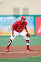Palm Beach Cardinals third baseman Leobaldo Pina (3) during a game against the Charlotte Stone Crabs on July 23, 2017 at Roger Dean Stadium in Palm Beach, Florida.  Charlotte defeated Palm Beach 3-0.  (Mike Janes/Four Seam Images)
