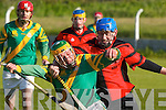 4029  Damien Casey (Ballyheigue) putting the pressure on Kilmoyleys Pat Deenihan in the North Kerry Intermediate Hurling Final showdown at Ballyuff Hurling Grounds on Sunday afternoon..  .