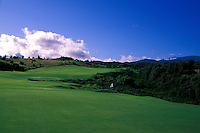 Hole No. 18 of the Kapalua Plantation golf course on Maui
