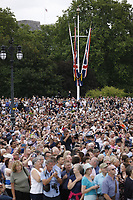 crowds<br /> RAF centenary fly-past at Buckingham Palace, The Mall, London England on July 10, 2018.<br /> CAP/PL<br /> &copy;Phil Loftus/Capital Pictures