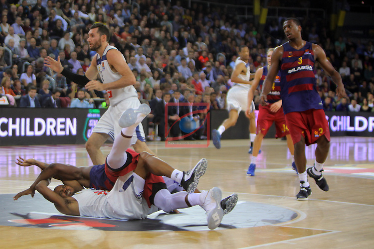 Turkish Airlines Euroleague 2016/2017.<br /> Regular Season - Round 8.<br /> FC Barcelona Lassa vs R. Madrid: 63-102.<br /> Dontaye Draper &amp; Joey Dorsey.