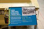 Information panel about Samson Combat Vehicle Reconnaissance tracked vehicle (CVR(T)), REME museum, MOD Lyneham, Wiltshire, England, UK