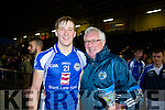 Pat Spillane congratulates his son Pat he helped Templenoe defeated Coolmeen in the Munster Junior Championship final in Mallow on Sunday