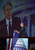 Wayne LaPierre, executive vice president of the National Rifle Association, speaks at the Conservative Political Action Conference (CPAC) at the Gaylord National Resort and Convention Center in National Harbor, Maryland on Thursday, February 22, 2018.<br /> Credit: Ron Sachs / CNP