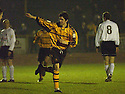 25/03/2003                   Copright Pic : James Stewart.File Name : stewart-alloa v ayr 02.IAN LITTLE CELEBRATES AFTER SCORING ALLOA'S FIRST...James Stewart Photo Agency, 19 Carronlea Drive, Falkirk. FK2 8DN      Vat Reg No. 607 6932 25.Office     : +44 (0)1324 570906     .Mobile  : +44 (0)7721 416997.Fax         :  +44 (0)1324 570906.E-mail  :  jim@jspa.co.uk.If you require further information then contact Jim Stewart on any of the numbers above.........