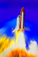 Space Shuttle launch from Kennedy Space Center