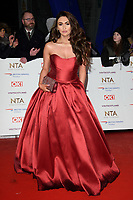 LONDON, UK. January 22, 2019: Amy Childs at the National TV Awards 2019 at the O2 Arena, London.<br /> Picture: Steve Vas/Featureflash