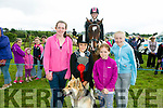 l-r  Ava Mulvihill, Sarah Quinn, Lilly O'Shea and Ava Byrne with Summer and Nicola Collins with Sirus from Streamside Stables, Moyvane at the KERRY PONY SOCIETY 37th Annual Show & Gymkhana At Blennerville on Sunday