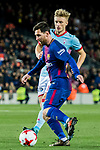 Lionel Andres Messi (L) of FC Barcelona fights for the ball with Daniel Wass of RC Celta de Vigo during the Copa Del Rey 2017-18 Round of 16 (2nd leg) match between FC Barcelona and RC Celta de Vigo at Camp Nou on 11 January 2018 in Barcelona, Spain. Photo by Vicens Gimenez / Power Sport Images