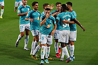 16th July 2020; Camp Nou, Barcelona, Catalonia, Spain; La Liga Football, Barcelona versus Osasuna; Jose Arnaiz celebration with team mates after scoring in the 15th minute for 0-1