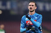 Fabian Ruiz of Napoli celebrates after scoring a goal <br /> Napoli 13-01-2019  Stadio San Paolo <br /> Football Calcio Coppa Italia 2018/2019 round of 16  <br /> Napoli - Sassuolo<br /> Foto Cesare Purini / Insidefoto