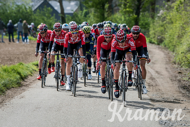 Team Lotto-Soudal leading the peloton<br /> <br /> 52nd Amstel Gold Race (1.UWT)<br /> 1 Day Race: Maastricht &rsaquo; Berg en Terblijt (264km)