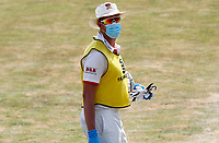 Matt Quinn of Essex takes all precautions when acting as twelfth man during Essex CCC vs Surrey CCC, Bob Willis Trophy Cricket at The Cloudfm County Ground on 10th August 2020