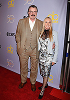 LOS ANGELES, CA - OCTOBER 04: Actor-producer Tom Selleck (L) and wife-actress Jillie Mack attend the CBS' 'The Carol Burnett Show 50th Anniversary Special' at CBS Televison City on October 4, 2017 in Los Angeles, California.<br /> CAP/ROT/TM<br /> &copy;TM/ROT/Capital Pictures